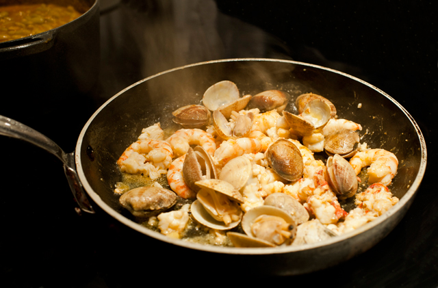 Es muy importante cocinarlas muy poco para que no pierdan sabor
