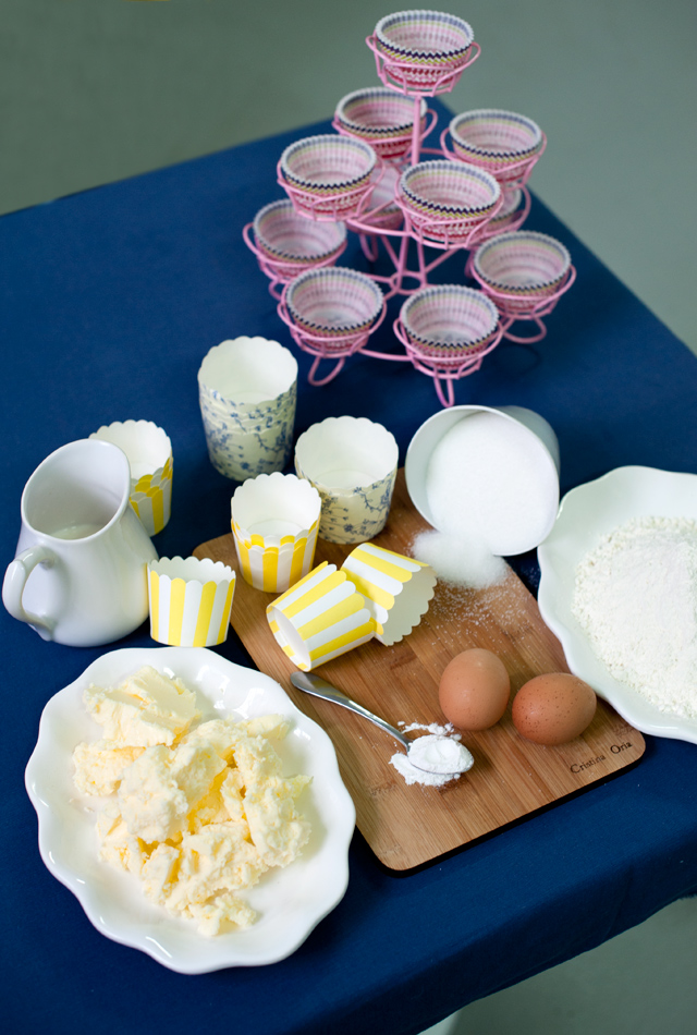 Ingredientes para nuestras cupcakes
