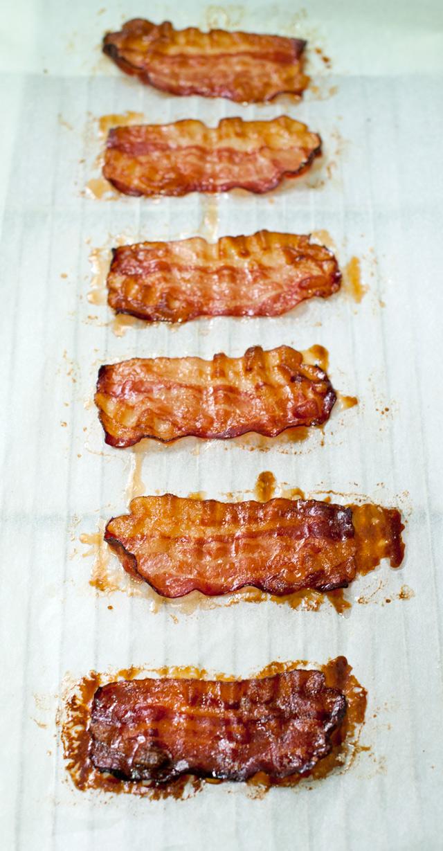 Bacon crujiente al horno