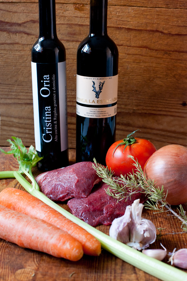Ingredientes carrilleras al vino
