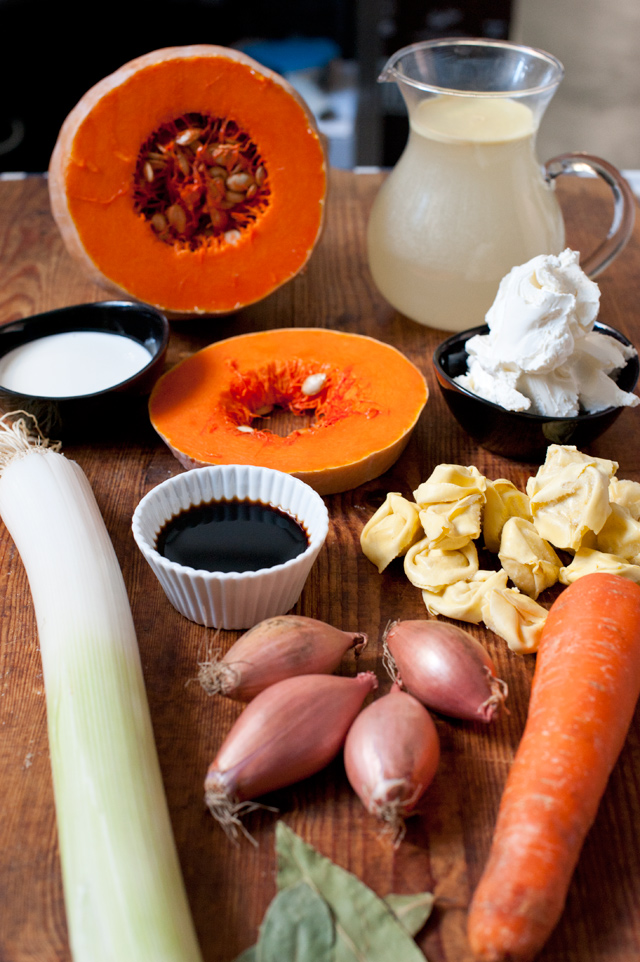 Ingredientes para hacer la crema
