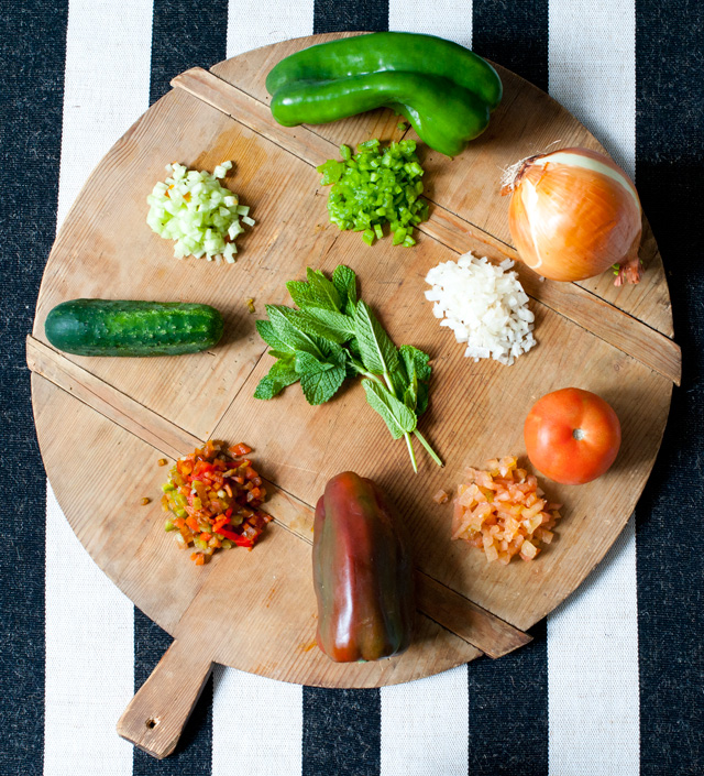 Ingredientes de las verduras