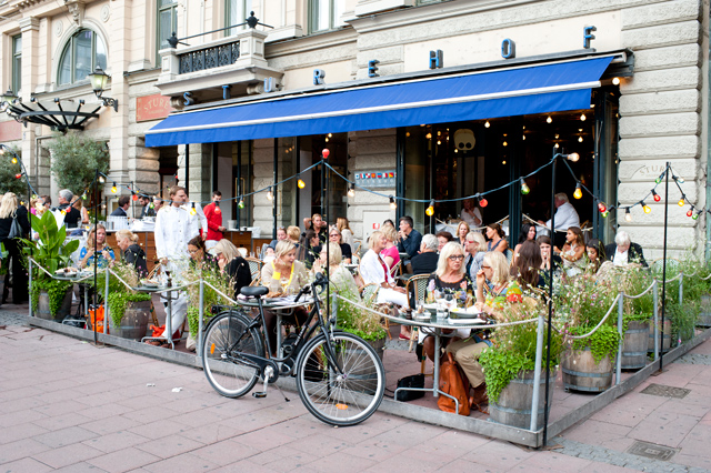 La terraza del restaurante Sturehof