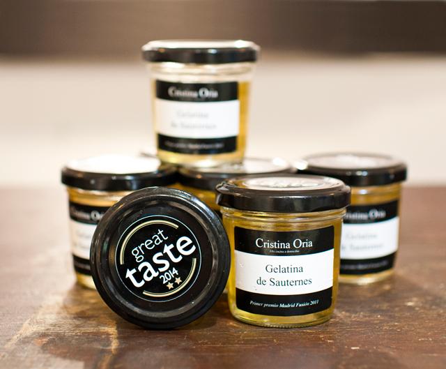 Nuestra gelatina de sauternes premio Internacional great taste 2014