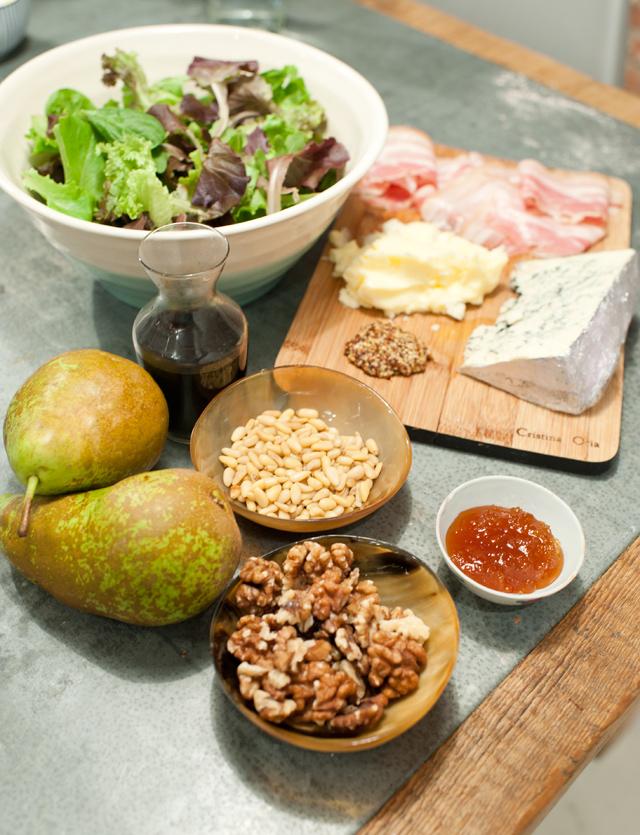 Ingredientes para la ensalada