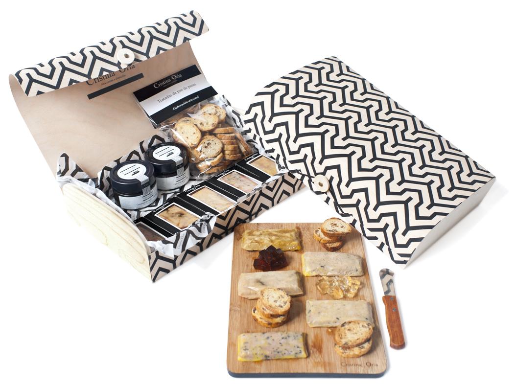 Caja madera 1 degustacion foie